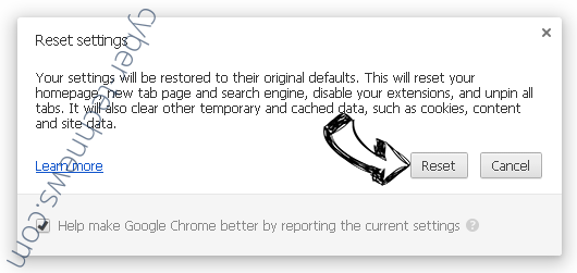 We Have Detected A Serious Security Problem Scam Chrome reset