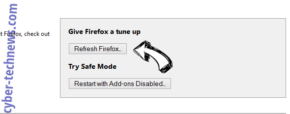 Search.pitchofcase.com Firefox reset