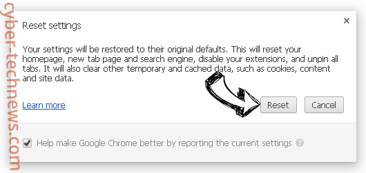 Browsers.top Chrome reset