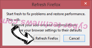 101Sweets Search Firefox reset confirm