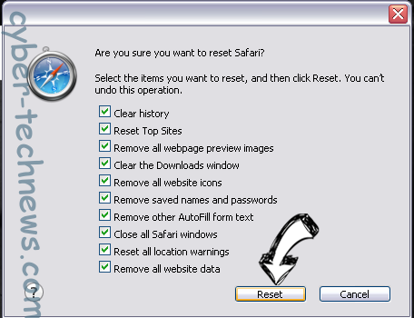 Browsers.top Safari reset