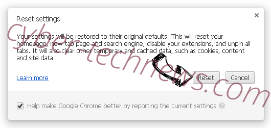 Search.mediatabtv.online Chrome reset