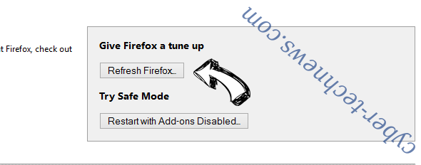 Search.fastpackagetracker.co Firefox reset