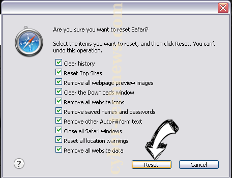 Windows Is Resetting Itself scam Safari reset