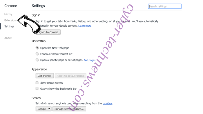 FormBook Virus Chrome settings