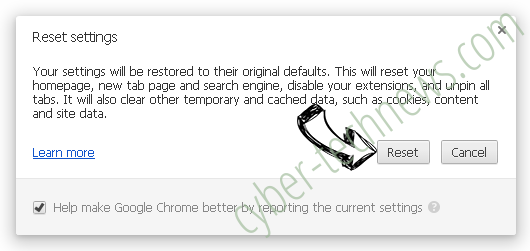 Pony Virus Chrome reset