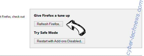 Safe Finder virus Firefox reset