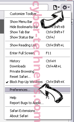 Pony Virus Safari menu
