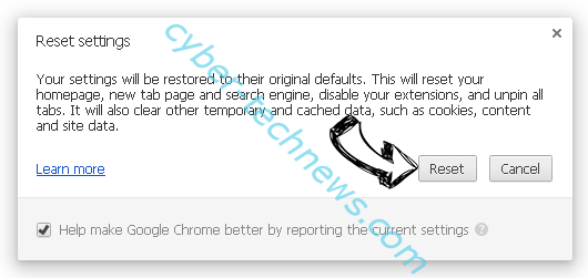 Search.centralhubradio.com Chrome reset