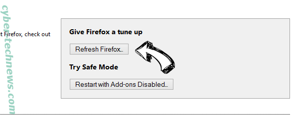 Search.centralhubradio.com Firefox reset