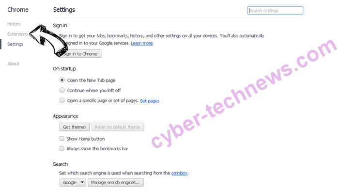 Memory Game virus Chrome settings