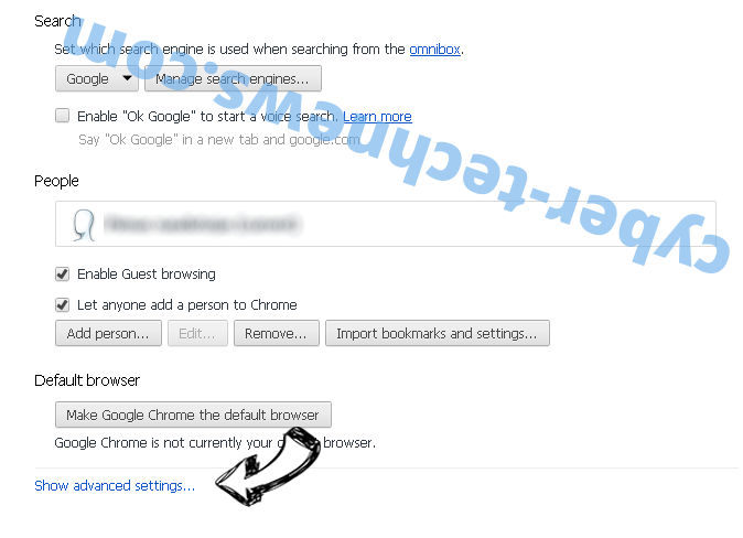 Diffitic.net Chrome settings more