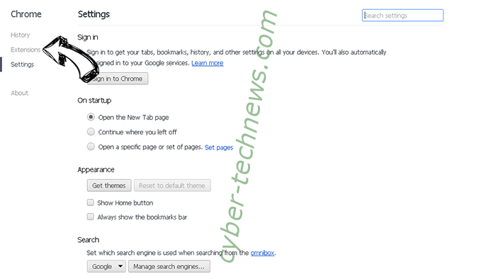 Onclickbright.com Chrome settings