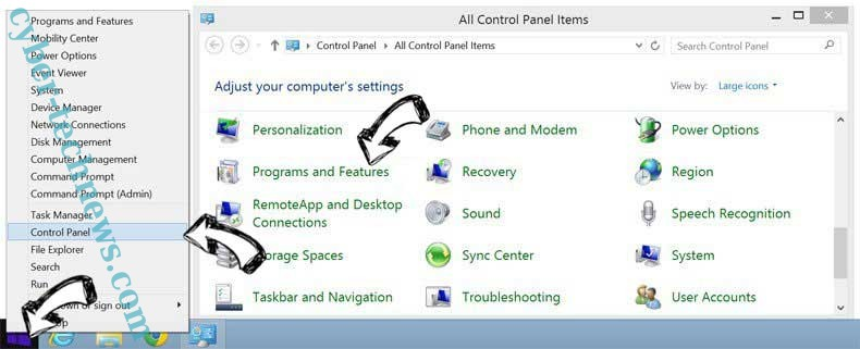 Delete Daily Mail Tab Virus from Windows 8