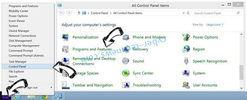 Delete Project Free Tv Virus from Windows 8