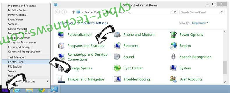 Delete Geting.pro pop-up ads from Windows 8