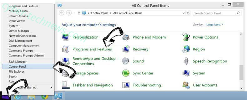 Delete Log.trendingnow.video redirect virus from Windows 8