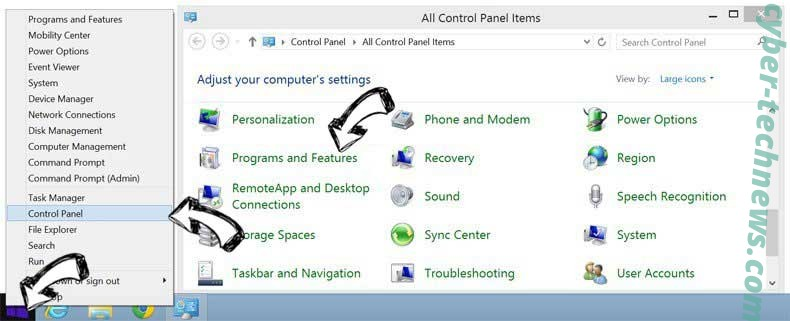 Delete ConvertoWiz Search virus from Windows 8