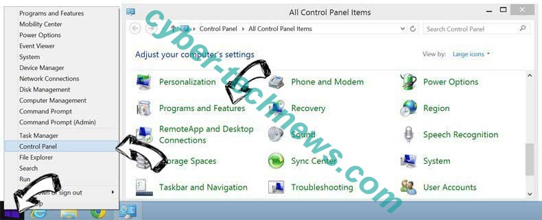 Delete Get Easy Templates Pro redirect from Windows 8
