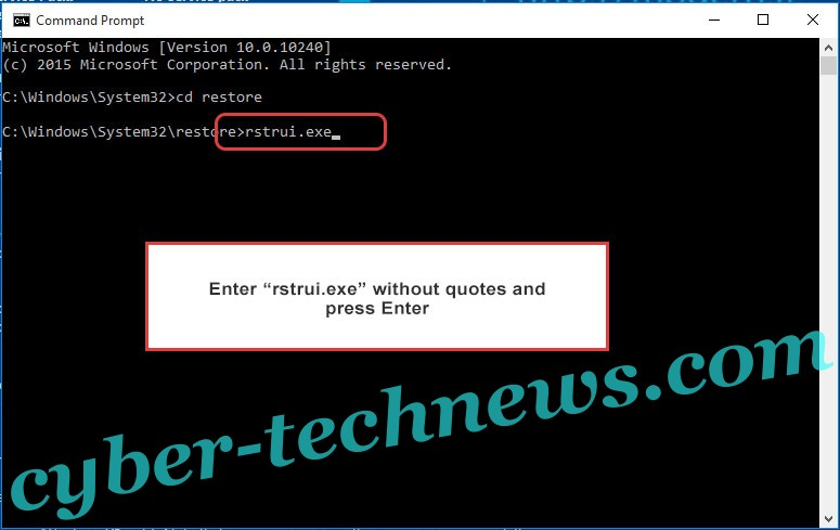 Delete .Verasto virus - command prompt restore execute