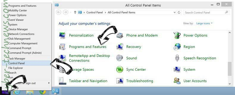 Delete Promotion-i.space from Windows 8