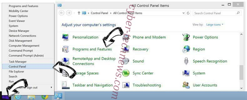 Delete Search14.com Virus from Windows 8