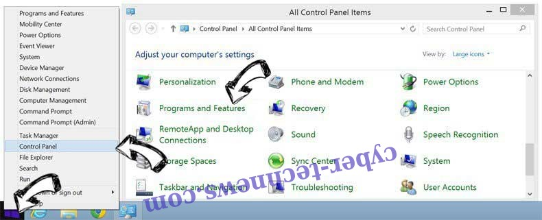 Delete Shortcutcommander.club from Windows 8