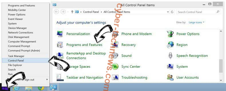 Delete Arp.bettersearchtools.com from Windows 8