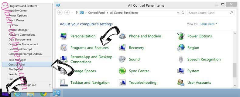 Delete Search Query Router from Windows 8