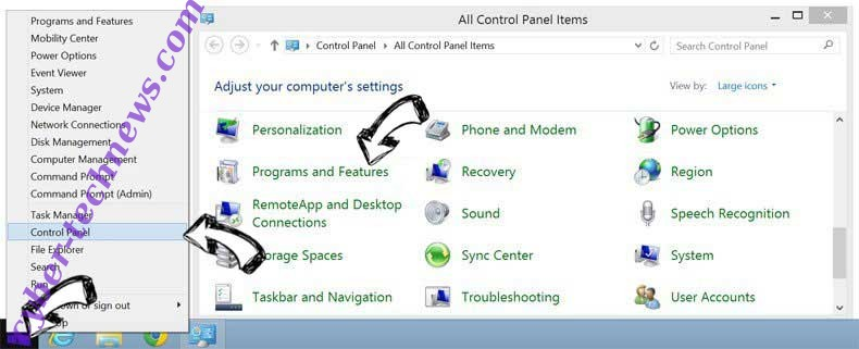 Delete TaxCenterNow Toolbar from Windows 8