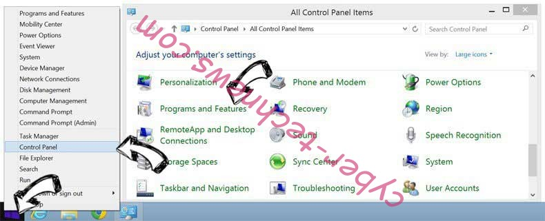 Delete En.uc123.com from Windows 8