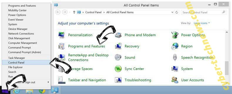 Delete Scontentdelivery.info from Windows 8
