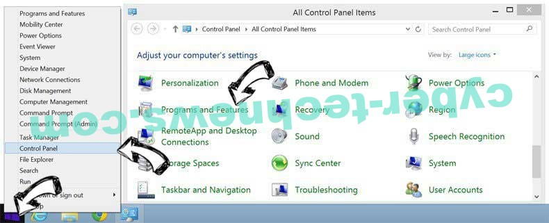 Delete VideoNet Search from Windows 8