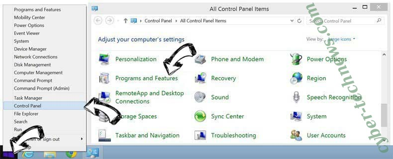 Delete Home.packagetracker.co from Windows 8