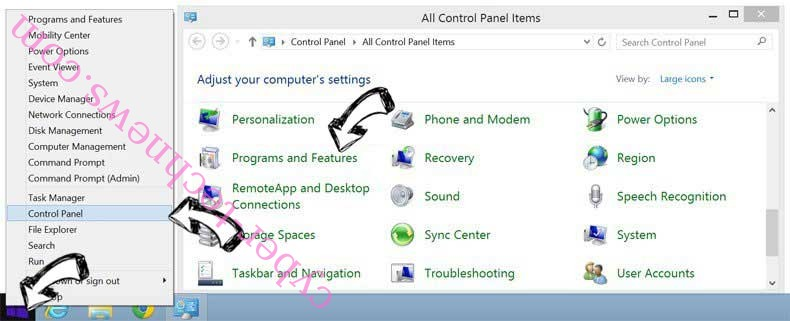 Delete Cloudnet virus from Windows 8