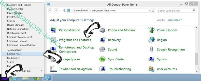 Delete Rescroller Extension from Windows 8