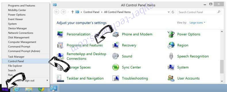 Delete mp3pro.xyz virus from Windows 8