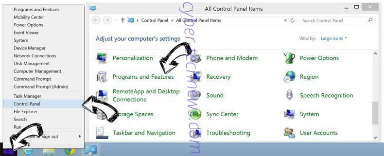Delete Rocket Tab from Windows 8