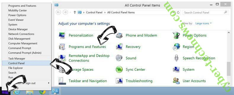 Delete Converter hub Virus from Windows 8