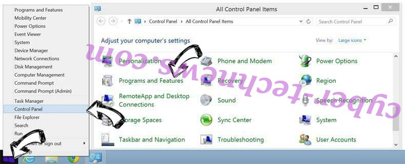 Delete Payae8moon9.com from Windows 8