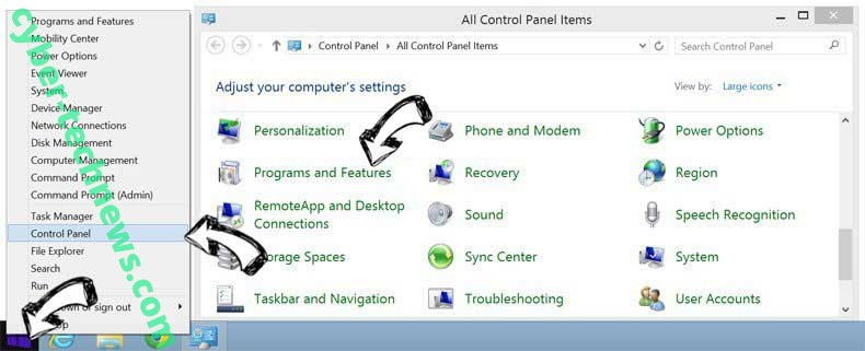 Delete Search.searchcoun2.com from Windows 8