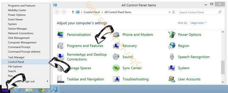 Delete Convert-myfiles.link from Windows 8