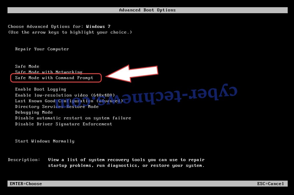 Remove HiddenTear Ransomware - boot options