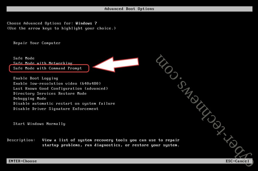 Remove Lurk ransomware - boot options