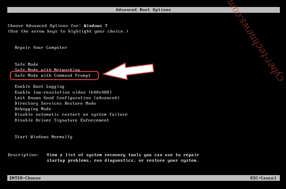 Remove Acuf2 ransomware - boot options