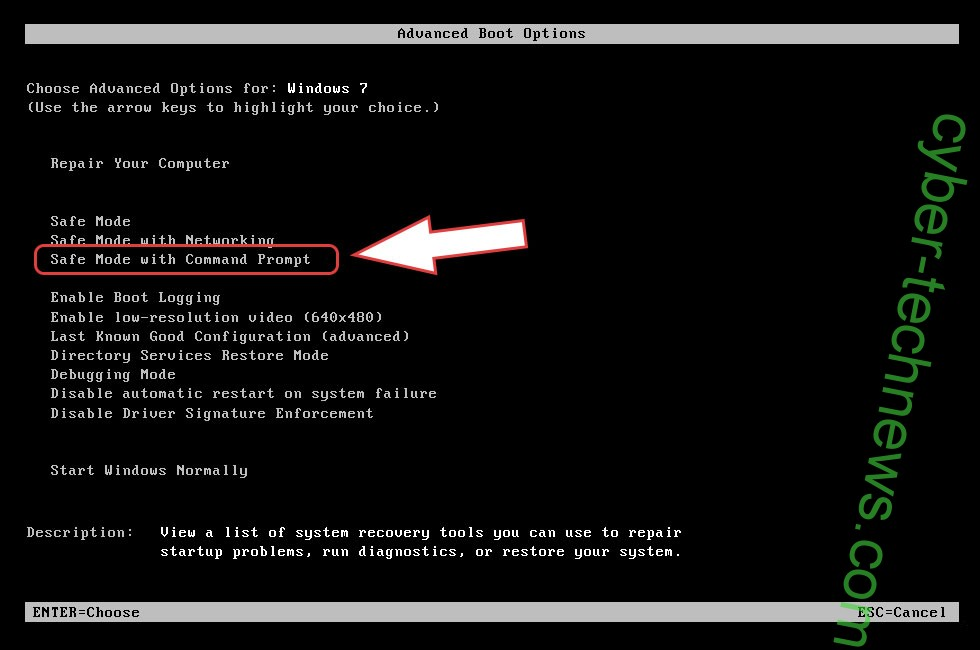 Remove MCrypt2019 Virus - boot options