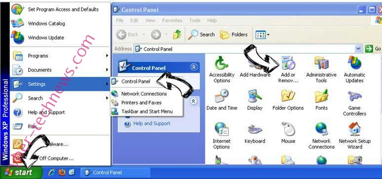 Remove Track Your Transit Info redirect from Windows XP
