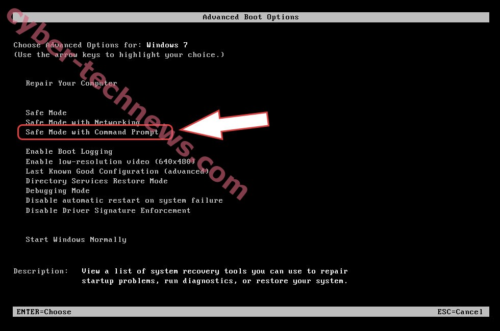 Remove Carote Ransomware - boot options
