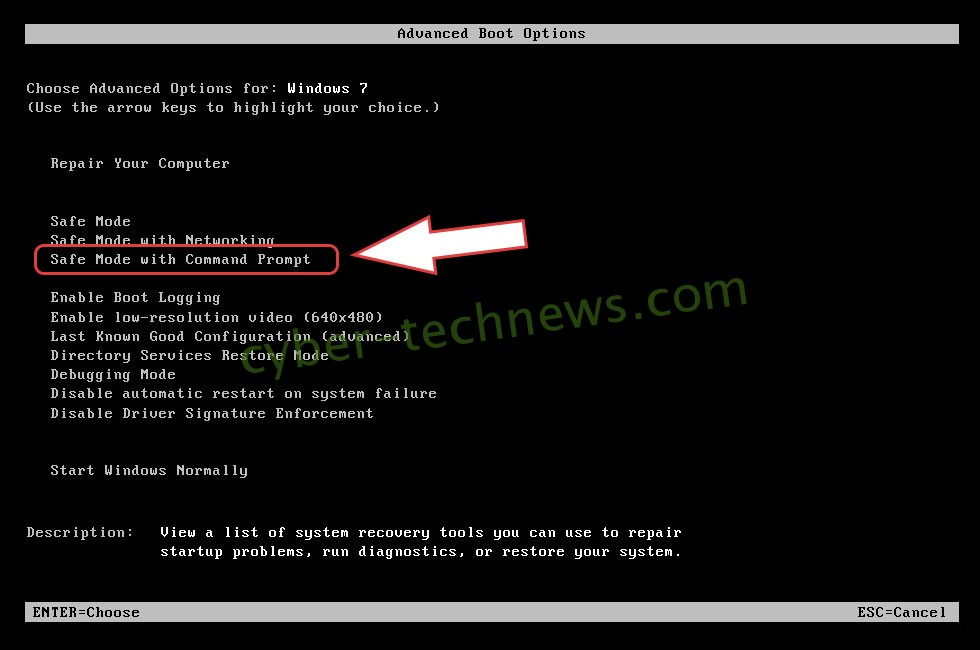 Remove Hermes666 virus - boot options