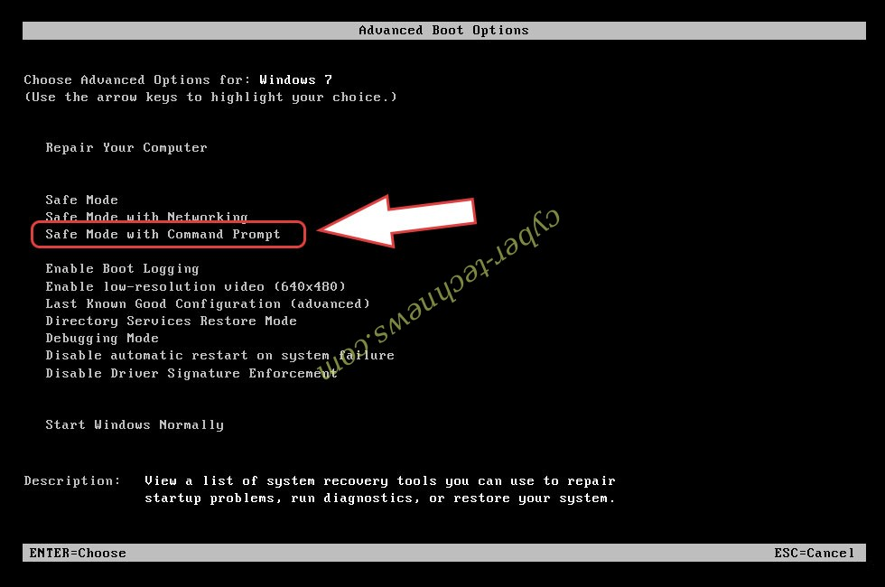 Remove AlphaBetaCrypt ransomware - boot options